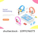 flat isometric vector concept... | Shutterstock .eps vector #1099196075