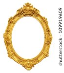 Gold Vintage Frame Isolated On...