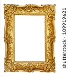 gold vintage frame isolated on... | Shutterstock . vector #109919621