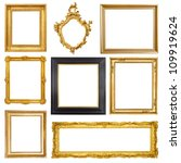 set of golden vintage frame... | Shutterstock . vector #109919624