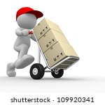 3d people   man  person with ... | Shutterstock . vector #109920341
