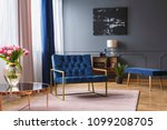 real photo of a blue  wide... | Shutterstock . vector #1099208705