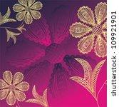 vector illustration of floral... | Shutterstock .eps vector #109921901
