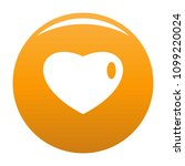 three dimensional heart icon.... | Shutterstock .eps vector #1099220024