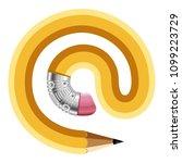 sign symbol pencil icon.... | Shutterstock . vector #1099223729