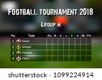 football results table.... | Shutterstock .eps vector #1099224914