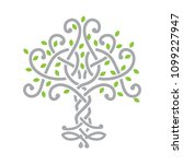 knot tree. logo icon | Shutterstock .eps vector #1099227947
