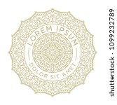 gold mandala logo template.... | Shutterstock .eps vector #1099232789