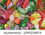 miniature micro pieces of... | Shutterstock . vector #1099234874