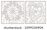set of contour illustrations of ... | Shutterstock .eps vector #1099234904