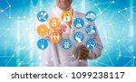unrecognizable pharma scientist ...   Shutterstock . vector #1099238117