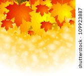 autumn background with red and... | Shutterstock .eps vector #109923887