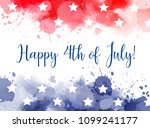 happy 4th of july  abstract... | Shutterstock .eps vector #1099241177