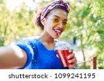 close up self portrait of...   Shutterstock . vector #1099241195