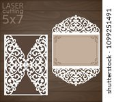 laser cut wedding invitation...   Shutterstock .eps vector #1099251491