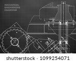blueprints. mechanical drawings.... | Shutterstock .eps vector #1099254071