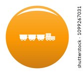 freight wagons icon. simple... | Shutterstock .eps vector #1099267031