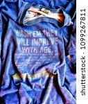 germany   circa 1985  blue... | Shutterstock . vector #1099267811
