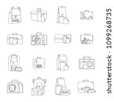 lunchbox food icons set.... | Shutterstock .eps vector #1099268735