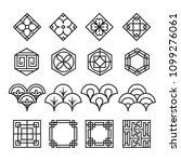 asian ornament icon  korean ... | Shutterstock .eps vector #1099276061