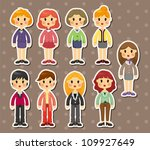 office woman stickers | Shutterstock .eps vector #109927649