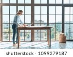 passionate about her project.... | Shutterstock . vector #1099279187
