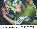 a mother  grandmother and small ... | Shutterstock . vector #1099282079