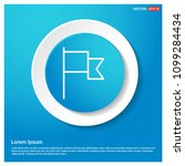 flag mark icon abstract blue...