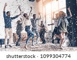 best party    full length of... | Shutterstock . vector #1099304774