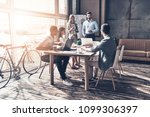 brainstorming for a new project.... | Shutterstock . vector #1099306397