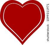 red heart valentine love logo... | Shutterstock .eps vector #1099311971