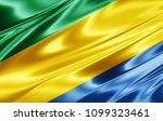gabon flag  of silk 3d... | Shutterstock . vector #1099323461
