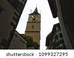 view of a clock tower and its... | Shutterstock . vector #1099327295