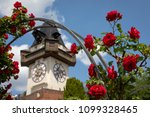 clocktower uhrturm on... | Shutterstock . vector #1099328465