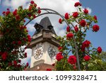 clocktower uhrturm on... | Shutterstock . vector #1099328471