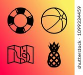 vector icon set about travel... | Shutterstock .eps vector #1099334459