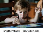 little girl  two years old ... | Shutterstock . vector #1099334531
