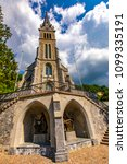 vaduz cathedral of saint florin ... | Shutterstock . vector #1099335191
