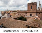 rome  italy   rooftops over old ... | Shutterstock . vector #1099337615