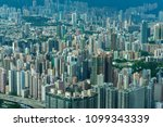 hong kong buildings   busy city ... | Shutterstock . vector #1099343339