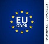 eu gdpr label illustration | Shutterstock .eps vector #1099348115