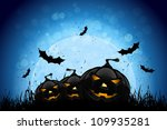 halloween party background with ... | Shutterstock .eps vector #109935281
