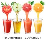 juice flowing from fruits into... | Shutterstock . vector #109935374
