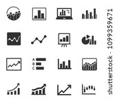 statistic  monochrome icons set.... | Shutterstock .eps vector #1099359671