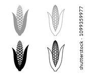 maize icon set grey black color ... | Shutterstock .eps vector #1099359977