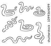 vector set of snakes | Shutterstock .eps vector #1099364099