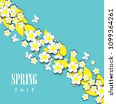 spring sale background with... | Shutterstock .eps vector #1099364261