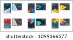 brochure design rectangular... | Shutterstock .eps vector #1099366577