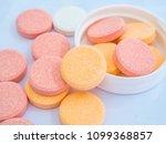 antacid tablets calcium... | Shutterstock . vector #1099368857
