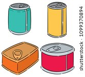 vector set of can | Shutterstock .eps vector #1099370894